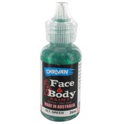 Green Glitter Face Paint - 36ml Pk 1
