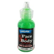 Lime Green Glitter Face Paint 36ml Pk 1