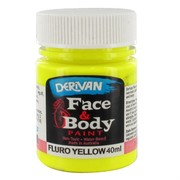 Fluro Yellow Face Paint 40ml Pk 1