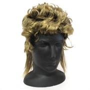 80's Party Wig - Mullet Cut Blonde Pk1