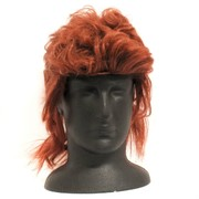 80's Party Wig - Mullet Cut Brown Pk1