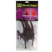 3D Bloody Window Hand Print Pk2