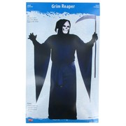 Costume Grim Reaper Robe Drape Sleeves and Hood Adult Pk1