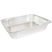 Aluminium Foil Roasting Tray Medium Rectangle 270x370x70mm Pk1