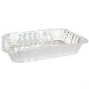 Aluminium Foil Roasting Tray Large Rectangle 43x30x6cm Pk1