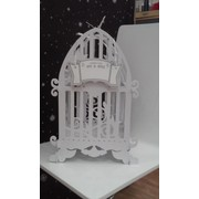 Birdcage Gift Card Wedding Cardboard Wishing Well (50cmx23cmx22cm) Pk 1
