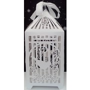 Birdcage Post Box Wedding Cardboard Wishing Well (24cmx24cmx54cm) Pk 1
