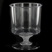 Plastic Wine Glasses - Goblet 185ml Pk 10