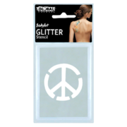 Peace Sign Temporary Glitter Tattoo Stencil Pk 1