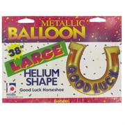 Balloon Supershape Foil 38in Good Luck Horseshoe Pk1