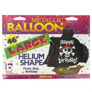 Balloon Foil Supershape Pirate Ship Birthday Pk1