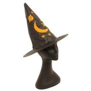 Child Witch Hat With Stars & Moon Pk 1