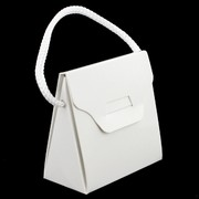 Bonbonniere Handbag Small White 60x60x35mm Pk20