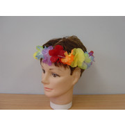 Multicoloured Flower Lei Headband Pk 1