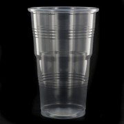 Clear Party Cups - Costwise Economy Plastic 340ml Pk50