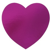 Cutout Heart Magenta 230mm Pk1