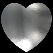 Cutout Heart Silver 230mm Pk1
