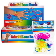 Colourful Silicone Loom Bands Pk 100 (1 Single Bag of 100 Bands)