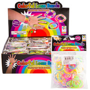 Glow in the Dark Silicone Bands Pk 100 (1 Single Bag of 100 Bands)