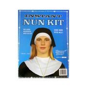 Nun Costume Accessories - Headpiece & Collar Pk 2