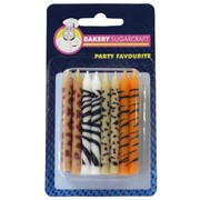 Animal Print Birthday Candles Pk24
