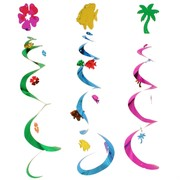 Decoration Hanging Luau Whirls 76cm Pk3