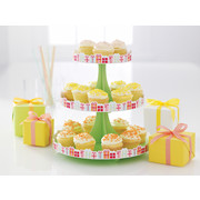 Festive Green Cupcake Stand with White Dots Pk 1