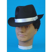 Black Satin Gangster Hat Pk 1