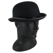 Black Satin Bowler Hat Pk 1
