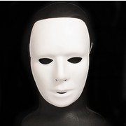 White PVC Masquerade Mask - Matte (Actual design may vary slightly) Pk 1