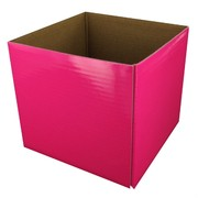 Mini Box 13cm x 11cm Hot Pink Pk1
