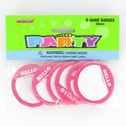 Pink Name Badges Pk 6