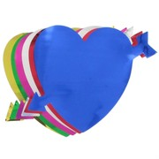 Foil Cutout Hearts Assorted Pk12