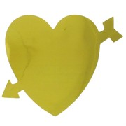 Foil Cutout Hearts Gold Pk12