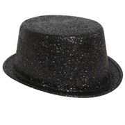 Hat Top Glitter Black Pk1