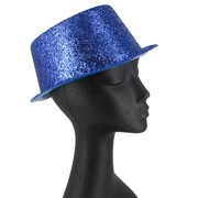 Hat Top Glitter Blue Pk1