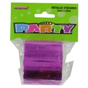 Streamer Metallic Hot Pink 25M Pk1