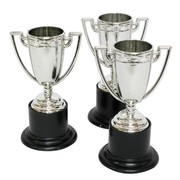 Party Favours - Mini Trophies (Silver or Gold) Pk3