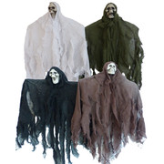 Hanging Halloween Decoration - Assorted Skeleton in Cloth (60cm) Pk 4