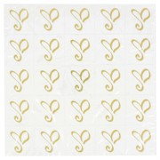 Gold Heart 'Amore' Seal Stickers Pk25