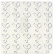 Silver Heart 'Amore' Seal Stickers Pk25