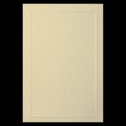 Invitation Embossed Border Ivory Gold Pk10