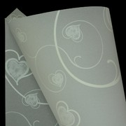 A4 Sheet Sheer Ivy Hearts White Pk10