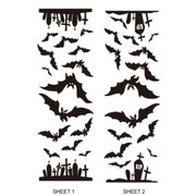 Bats & Graveyards Wall Decals - 2 Sheets