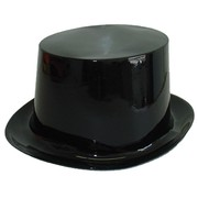 Black Plastic Top Hat Pk 1