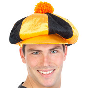 Black & Orange Jockey Hat Pk 1