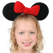 Minnie Mouse Party - Mouse Ears on Headband with Red Bow Pk 1