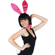 Hot Pink Bunny Costume Set (Ears, Bow Tie and Tail Only) Pk 1