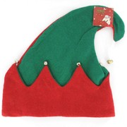 Christmas Elf Hat with Bells Pk1