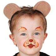 Brown Teddy Bear Ears on Headband Pk 1